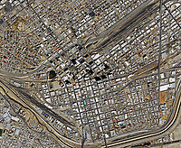 aerial photo map of the city center of El Paso, Texas, 2019