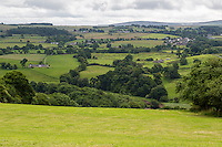 Cumbria, England, UK.  View to the South from the Hadrian's Wall Footpath, near Banks, between Lanercost and Gilsland.