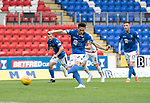St Johnstone v Brechin….24.07.19      McDiarmid Park     Betfred Cup       <br />Scott Tanser scores from the penalty spot<br />Picture by Graeme Hart. <br />Copyright Perthshire Picture Agency<br />Tel: 01738 623350  Mobile: 07990 594431