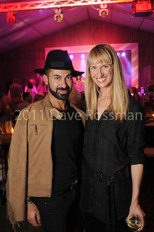 Fady Armanious and Chris Goins at the Nature Conservancy's Nature Rocks  Gala at the Houston Polo Club Thursday Oct. 22,2015.(Dave Rossman photo)