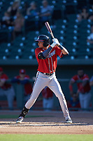 Griffin Benson (23) of the Rome Braves at bat against the Columbia Fireflies at Segra Park on May 13, 2019 in Columbia, South Carolina. The Fireflies walked-off the Braves 2-1 in game one of a doubleheader. (Brian Westerholt/Four Seam Images)