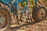 A vineyard tractor equipped with claws to work the soil and remove weed - Chateau Belgrave, Haut-Medoc, Grand Crus Classee 1855