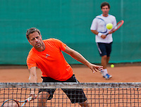 August 13, 2014, Netherlands, Raalte, TV Ramele, Tennis, National Championships, NRTK, Mens doubles: Bart Beks/Remko de Rijke<br /> Photo: Tennisimages/Henk Koster