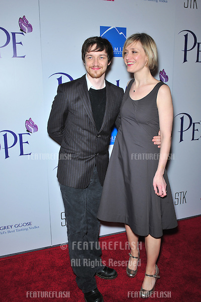"""James McAvoy & date at the Los Angeles premiere of his new movie """"Penelope"""" at the Directors Guild Theatre, West Hollywood..February 20, 2008  Los Angeles, CA.Picture: Paul Smith / Featureflash"""
