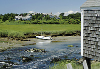 Cummaquid, Massachusetts.Country scene along Mill Road in Cummaquid. The stream in foreground is driven by the tides