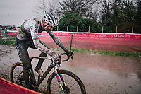 CX world champion Mathieu Van der Poel (NED/Alpecin-Fenix)<br /> <br /> UCI cyclo-cross World Cup Dendermonde 2020 (BEL)<br /> Men's Race<br /> <br /> ©kramon