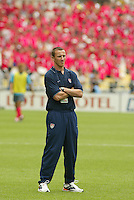 USA's Strength and Conditioning Coach Pierre Barrieu. The USA tied South Korea, 1-1, during the FIFA World Cup 2002 in Daegu, Korea.