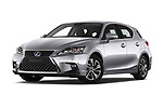 Stock pictures of low aggressive front three quarter view of a 2018 Lexus CT Executive Line 5 Door Hatchback