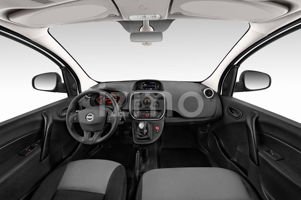 Stock photo of straight dashboard view of 2020 Nissan NV250 Visia 5 Door Car Van Dashboard