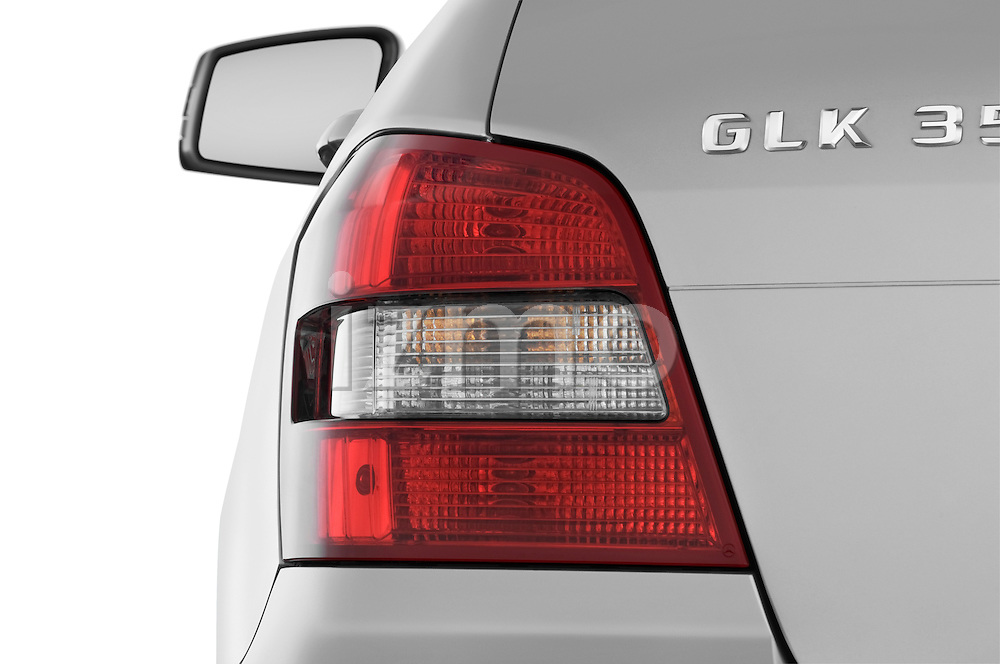 Tail light close up detail view of a 2010 Mercedes GLK Class 350