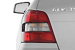 Tail light close up detail view of a 2010 Mercedes GLK Class 350