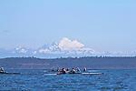 Port Townsend, Rat Island Regatta, OPRA, Olympic Peninsula Rowing Association; Wintech 2X, rowers, kayakers, standup paddlers, racing, Sound Rowers, Rat Island Rowing Club, Puget Sound, Olympic Peninsula, Washington State, water sports, rowing, kayaking, competition,