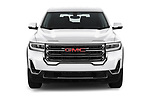 Car photography straight front view of a 2020 GMC Acadia SLE 5 Door SUV Front View
