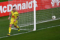 15th March 2020, Wellington, New Zealand;  Phoenix's Gary Hooper celebrates his goal during the A-League - Wellington Phoenix versus Melbourne Victory football match at Sky Stadium in Wellington on Sunday the 15th March 2020.