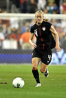 USWNT defender Becky Sauerbrunn (4) chases a ball down.....USWNT played to a 1-1 tie with Canada at LIVESTRONG Sporting Park, Kansas City, Kansas.