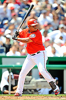 17 August 2008: Washington Nationals' infielder Ronnie Belliard in action against the Colorado Rockies at Nationals Park in Washington, DC. The Rockies defeated the Nationals 7-2, sweeping the 3-game series, and handing the last place Nationals their 10th consecutive loss. ..Mandatory Photo Credit: Ed Wolfstein Photo