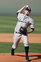 March 20, 2010: Jared Schlehuber (15) of Oral Roberts pitches against UCLA at UCLA in Los Angeles,CA.  Photo by Larry Goren/Four Seam Images