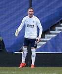 21.02.2021 Rangers v Dundee Utd: Allan McGregor roaring and shouting at Borna Barisic after conceding a goal