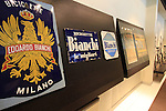 Old sinage on dispaly in reception Bianchi Factory, Treviglio, Italy. 30th September 2015.<br /> Picture: Eoin Clarke | Newsfile