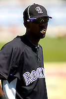 March 13, 2010 - Colorado Rockies' Dexter Fowler #24 during a spring training game against the Milwaukee Brewers at Maryvale Baseball Park in Phoenix, Arizona.