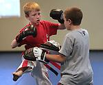 Cousin Joe's senior red belt test Wednesday, June 27, 2012..Photo by Cathleen Allison