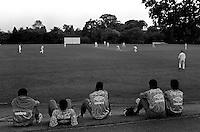 Pix:Michael Steele/SWpix...Soccer. Brazilian National Team...COPYRIGHT PICTURE>>SIMON WILKINSON..The Brazilian national team watch some Cricket.