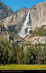 Yosemite Falls in Spring from Leidig Meadow, Yosemite National Park