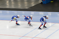 SPEEDSKATING: 22-11-2019 Tomaszów Mazowiecki (POL), ISU World Cup Arena Lodowa, Team Sprint Ladies (RUS), ©photo Martin de Jong