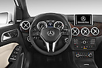 Car pictures of steering wheel view of a 2017 Mercedes Benz B-Class Electric-Drive 5 Door Mini MPV Steering Wheel