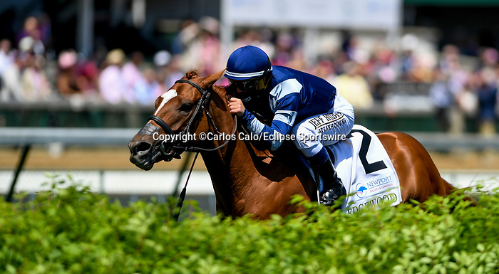 April 30, 2021 : Gift List, #2, ridden by Javier Castellano, wins the Edgewood Graded Stakes on Kentucky Oaks Day at Churchill Downs on April 30, 2021 in Louisville, Kentucky. Carlos Calo/Eclipse Sportswire/CSM
