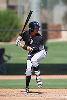 Chicago White Sox Alex Call (8) during an Instructional League game against the San Francisco Giants on October 10, 2016 at the Camelback Ranch Complex in Glendale, Arizona.  (Mike Janes/Four Seam Images)
