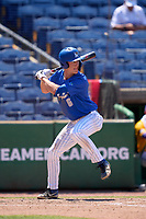 Memphis Tigers Zach Wilson (6) bats during a game against the East Carolina Pirates on May 25, 2021 at BayCare Ballpark in Clearwater, Florida.  (Mike Janes/Four Seam Images)