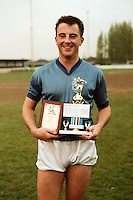 Paul Wilson receives the Barking FC Player of the Season Award for 1986-87 - MANDATORY CREDIT: Gavin Ellis/TGSPHOTO - Self billing applies where appropriate - Tel: 0845 094 6026