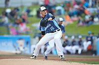 West Michigan Whitecaps starting pitcher Matt Manning (16) in action against the South Bend Cubs at Fifth Third Ballpark on June 10, 2018 in Comstock Park, Michigan. The Cubs defeated the Whitecaps 5-4.  (Brian Westerholt/Four Seam Images)