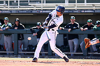 CARY, NC - FEBRUARY 23: Mac Hippenhammer #14 of Penn State University hits the ball during a game between Wagner and Penn State at Coleman Field at USA Baseball National Training Complex on February 23, 2020 in Cary, North Carolina.
