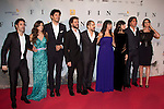 Maribel Verdu, Clara Lago, Daniel Grao, Blanca Romero, Carmen Ruiz, Antonio Garrido, Miquel Fernandez, Andres Velencoso and diector Jorge Torregrossa, attend 'FIN' Premiere at Callao Cinema in Madrid on november 20th 2012...Photo: Cesar Cebolla / ALFAQUI..
