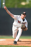 Winston Salem's Adam Russell delivers a pitch to the plate versus Frederick at Ernie Shore Field in Winston-Salem, NC, Thursday, June 15, 2006.  Winston-Salem defeated Frederick 1-0 in game 1 of a double-header.