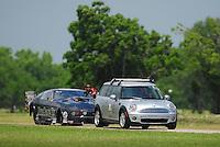 Apr. 28, 2012; Baytown, TX, USA: NHRA pro mod driver Leah Pruett during qualifying for the Spring Nationals at Royal Purple Raceway. Mandatory Credit: Mark J. Rebilas-
