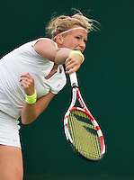25-06-13, England, London,  AELTC, Wimbledon, Tennis, Wimbledon 2013, Day two, Michaella Krajicek (NED)<br /> <br /> <br /> <br /> Photo: Henk Koster