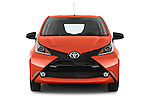 Car photography straight front view of a 2015 Toyota AYGO X-CITE 2WD MT 5 Door Micro Car 2WD Front View