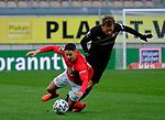 Fussball - 3.Bundesliga - Saison 2020/21<br /> Kaiserslautern -  Fritz-Walter-Stadion 07.04.2021<br /> 1. FC Kaiserslautern (fck)  - FSV Zwickau (zwi) 2:2<br /> Nicolas SESSA (1. FC Kaiserslautern), li - Mike KOENNECKE (FSV Zwickau)<br /> <br /> Foto © PIX-Sportfotos *** Foto ist honorarpflichtig! *** Auf Anfrage in hoeherer Qualitaet/Aufloesung. Belegexemplar erbeten. Veroeffentlichung ausschliesslich fuer journalistisch-publizistische Zwecke. For editorial use only. DFL regulations prohibit any use of photographs as image sequences and/or quasi-video.