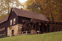 AJ3145, grist mill, Charlottesville, Virginia, Historic 1797 Meadow Run Grist Mill at Michie Tavern in Charlottesville in the state of Virginia.