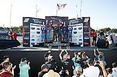 #98 Byan Herta Autosport W Curb-Agajanian Hyundai Veloster N TCR, TCR: Mark Wilkins, Michael Lewis, #61 Roadshagger Racing by eEuroparts.com Audi RS3 LMS TCR DSG, TCR: Gavin Ernstone, Jon Morley, #37 LA Honda World Racing Honda Civic TCR, TCR: Tom O'Gorman, Shelby Blackstock, podium