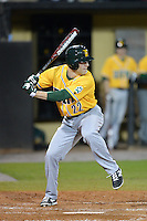 Siena Saints outfielder Dan Swain (22) during the season opening game against the Central Florida Knights at Jay Bergman Field on February 14, 2014 in Orlando, Florida.  UCF defeated Siena 8-1.  (Mike Janes/Four Seam Images)