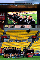 The teams line up for national anthems before the 2017 International Women's Rugby Series rugby match between the NZ Black Ferns and Canada at Westpac Stadium in Wellington, New Zealand on Friday, 9 June 2017. Photo: Dave Lintott / lintottphoto.co.nz