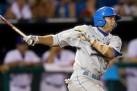 UCLA's Steve Rodriguez against Florida in Game 2 of the NCAA Division One Men's College World Series on Saturday June 19th, 2010 at Johnny Rosenblatt Stadium in Omaha, Nebraska.  (Photo by Andrew Woolley / Four Seam Images)