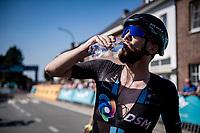 Joris Nieuwenhuis (NED/DSM) hydrating post-race<br /> <br /> 17th Benelux Tour 2021<br /> Stage 5 from Riemst to Bilzen (BEL/192km)<br /> <br /> ©kramon