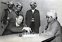 Iraq 1962.Mustafa Barzani playing chess with Dana Adam Schmidt, an American journalist    Irak 1962 Mustafa Barzani jouant aux echecs avec Dana Adam Schmidt, journaliste américain
