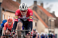 Danish Champion Kasper Asgreen (DEN/Deceuninck - QuickStep)<br /> <br /> 44th AG Driedaagse Brugge-De Panne 2020 (1.UWT / BEL)<br /> 1 day race from Brugge to De Panne (203km shortened to 188km due to the windy weather conditions) <br /> <br /> ©kramon