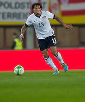 VIENNA, Austria - November 19, 2013: Jermaine Jones during a 0-1 loss to host Austria during the international friendly match between Austria and the USA at Ernst-Happel-Stadium.